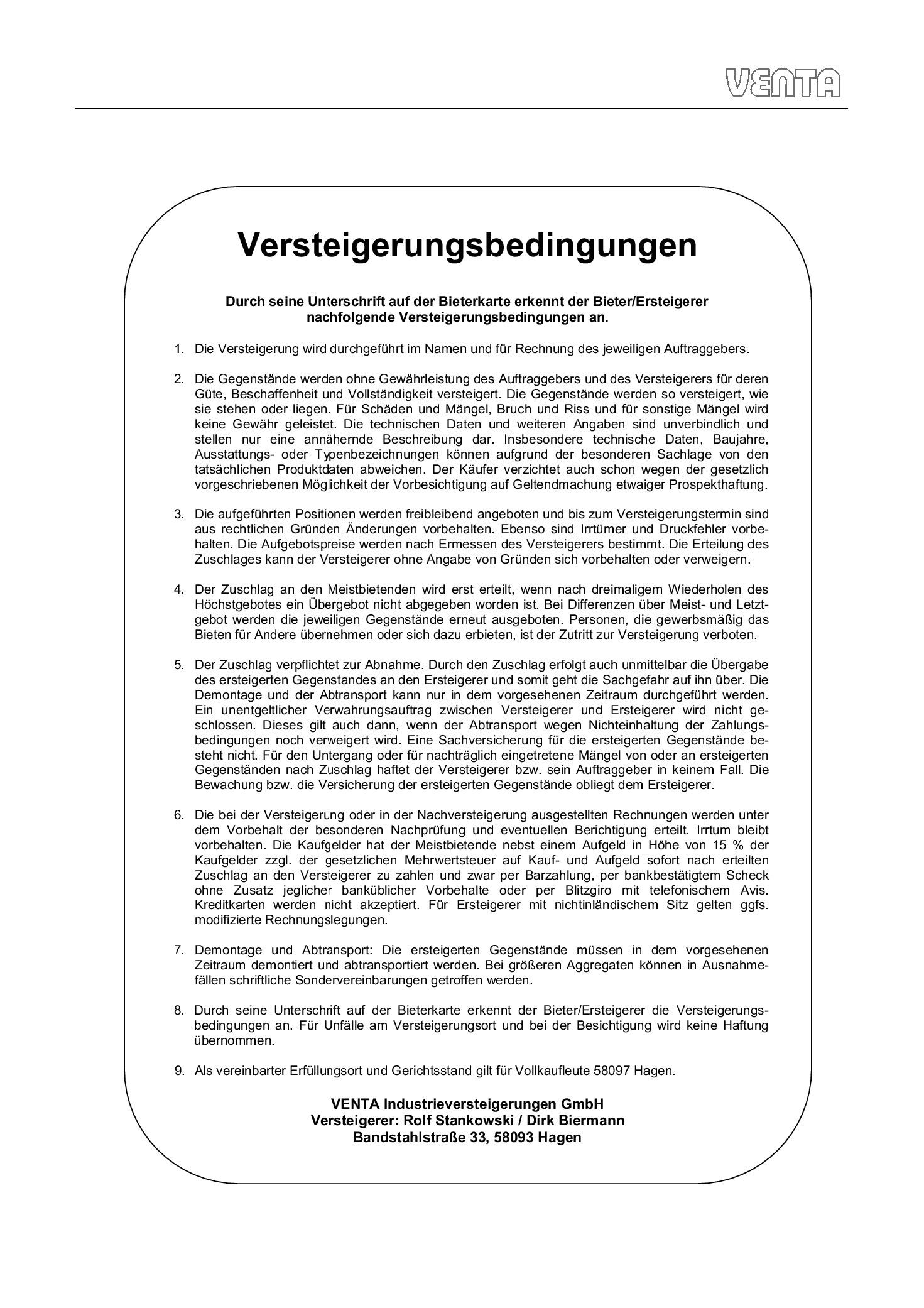 Pfandversteigerung Berlin